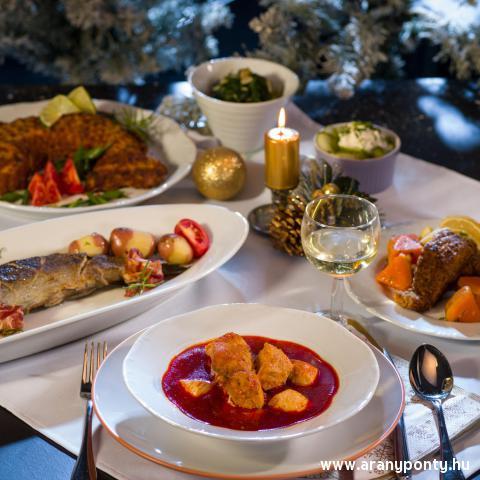 Karácsonyi halas asztal